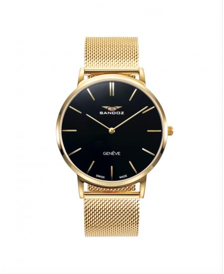 En AmarilloEsfera Reloj Oro Chapado Y Cristal Irrayable Negra Zafiro wXZPTkiuO